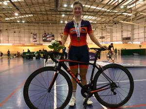 Sophie Williams wins Bronze at Junior Track National Championships for Team RGB Building Supplies, Team RGB Building Supplies, cycling team, women's cycling, Cycle Engage UK, Scimitar sports