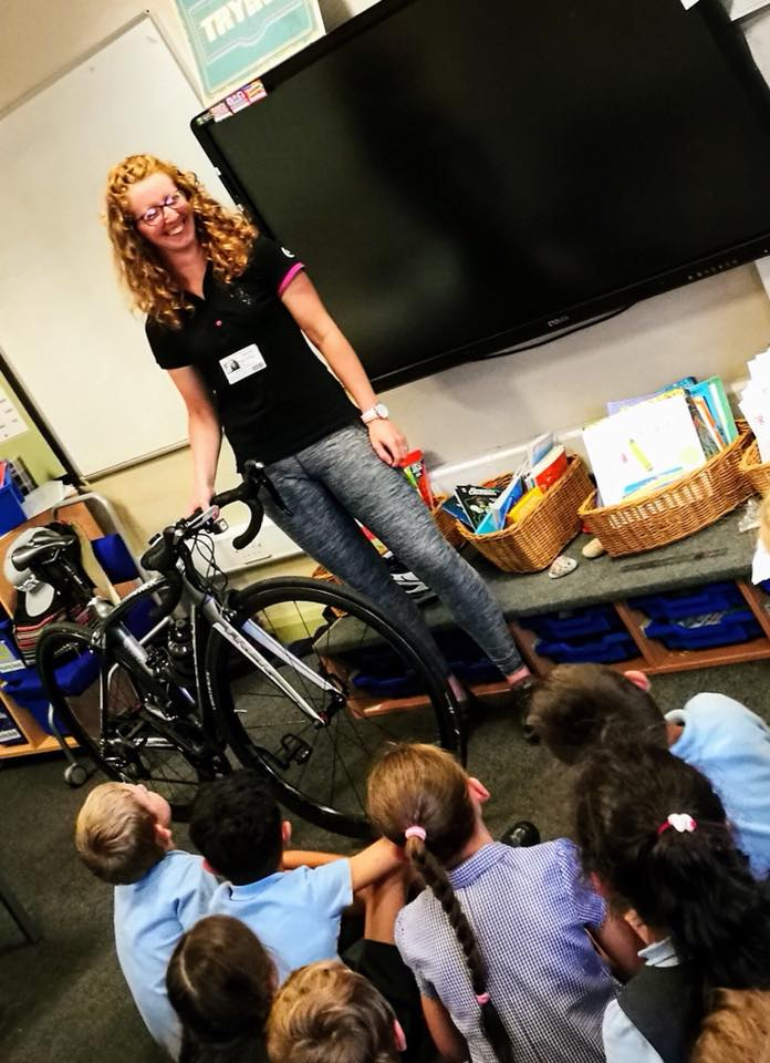 Wigan Leigh Streetvelodrome Alice Staniford School cycling talk assos moveinsync