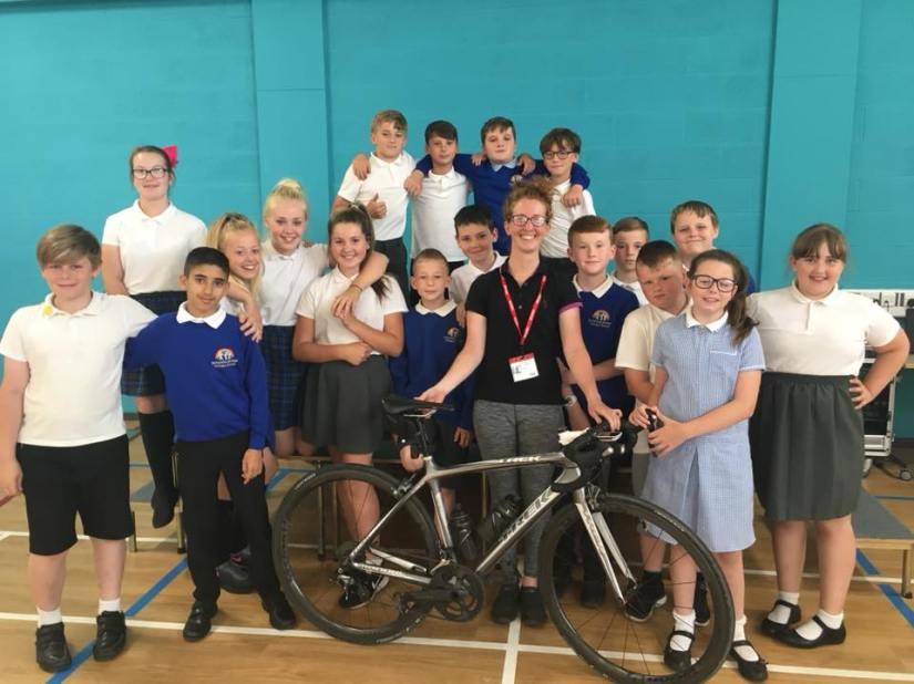 Wigan Leigh Streetvelodrome Alice Staniford School cycling talk assos moveinsync